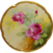 GORGEOUS Brauer Plate with Hand Painted Pink Roses