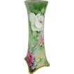 BEAUTIFUL Bavaria Vase with Hand Painted Roses - - Artist Signed