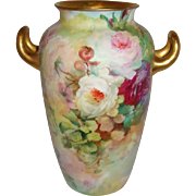 Beautiful - Rosenthal - Germany - German - Bavaria - Bavarian - Vase - Hand Painted  - Pink -