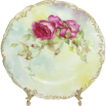 BEAUTIFUL T&V Limoges Plate with Hand Painted Roses