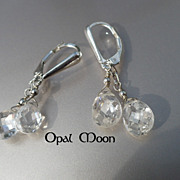 REDUCED Cubic Zirconia and Sterling Earrings by Opal Moon