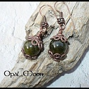 REDUCED Copper Grossular Garnet Earrings by Opal Moon