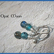 REDUCED Kyanite Sterling Earrings by Opal Moon