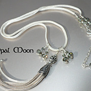 REDUCED Sterling Silver Tassel Necklace by Opal Moon