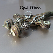 REDUCED Lampwork and Sterling Silver Earrings by Opal Moon