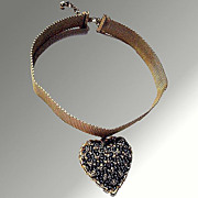 KJL Choker Heart Necklace