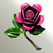 A Rose By Any Other Name...Vintage Enamel Pin