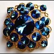 Brilliant Corocraft Large Rhinestone Brooch