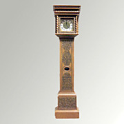 William and Mary Tall Case Clock- Butterfly Collection Stuart Library Collection Doll House
