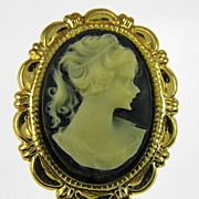 Vintage Cameo Post Earrings