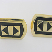Vintage ANSON Art Deco Geometric Design Cuff Links