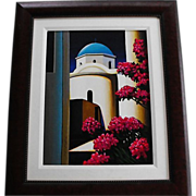 SALE Serigraph by artist Igor Medvedev numbered and signed and framed   Circa: 2001