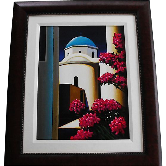 Serigraph by artist Igor Medvedev numbered and signed and framed   Circa: 2001