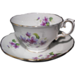 Crown Staffordshire Footed Teacup with violets