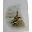 Trade Card: Lighthouse and Sail Ships Circa: Turn of the Century