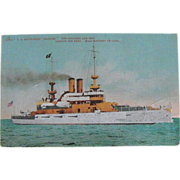 Postcard: Battleship Illinois: Circa Early 1900s