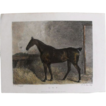 Lithograph Print of John Scott engraving of horse &quot;L. O. P.&quot; from 1828: circa 1872