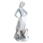 SALE Lladro Figurine: Girl with Milk Pail, #4682