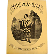 Playbill:Vanderbilt Theatre   1937