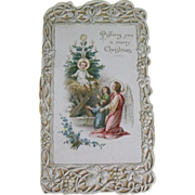 Antique Christmas post card                                      Circa: 1900