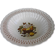 Vernonware Fruit Basket by Metlox round vegetable bowl circa 1970
