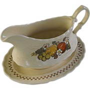 Vernonware Fruit Basket by Metlox gravy with tray circa 1970
