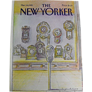 New Yorker Magazine Cover: March 30, 1981