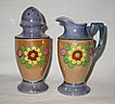 Vintage Berries & Cream Lustreware Pitcher and Sugar Shaker Set