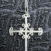 Unusual Silver Cross - Delicate Chain