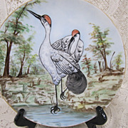 Bavaria Cabinet Plate - Rare Red Crowned Crane