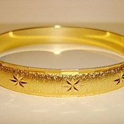 Vintage Gold tone Monet Bangle Bracelet