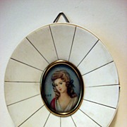 19th Century Miniature Portrait With Ivory Frame