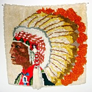 Vintage Indian Yarn Embroidery Picture