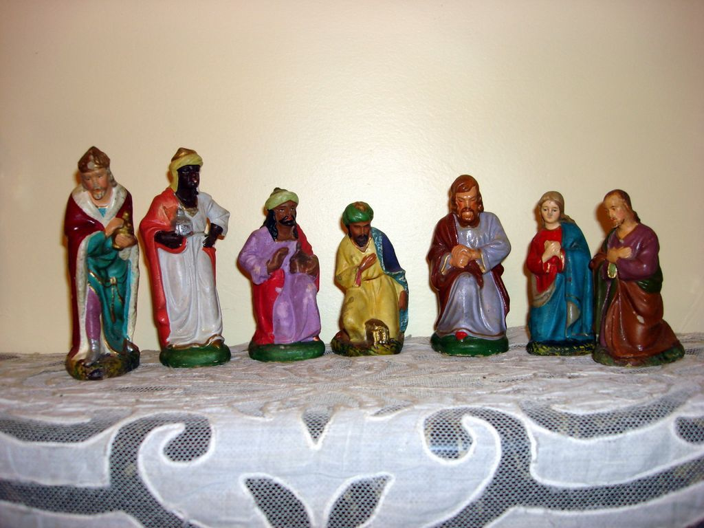 Vintage German Composite Nativity Figurines from ottosantiques on Ruby ...