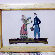 19th Century Framed Needle Work