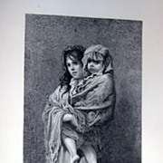 "J. Saddler Engraving ""Homeless"" By G. Dore"
