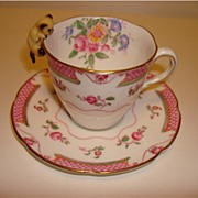 Royal Doulton Small Cup & Saucer Lowestoft H4575