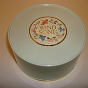 Vintage Wind Song Powder Box Made IN Canada