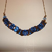 Stunning Royal Blue Bohemian Crystal Choker