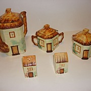 Keele St. Pottery  Tea Pot-Sugar Bowls And Salt & Pepper
