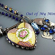 SOLD Key to My Heart ~ Out of My Mind Collage Necklace