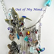 SOLD Hummingbird Happy ~ Out of My Mind Charm Necklace