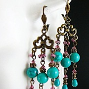 Drippy Do ~ Out of My  Mind Earrings