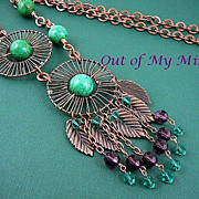 Copper Wheels ~ Out of My Mind Necklace