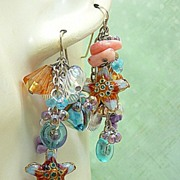 SOLD BeachComber ~ Out of My Mind Asymmetrical Earrings
