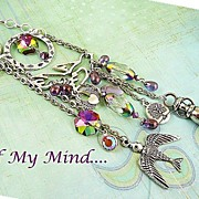 SOLD Mystic Flight ~ Out of My Mind Charm Necklace
