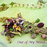 SOLD Violet Vision ~ Out of My Mind Collage Necklace