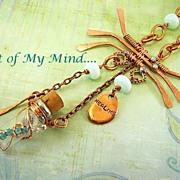 Message in a Bottle ~ Out of My Mind Assemblage Necklace