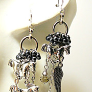 SOLD Wild Horses ~ Out of My Mind Asymmetrical Earrings