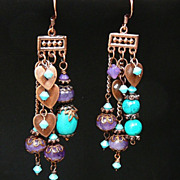 SOLD Near to My Heart ~ Asymmetrical Earrings